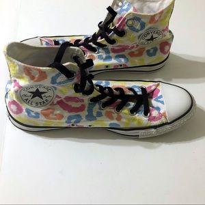 Converse Colorful Cheetah Print Unisex Sneakers